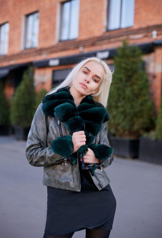 Куртка с эксклюзивным мехом